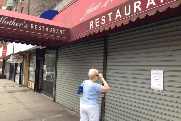 Just Like Mother's at 110-60 Queens Boulevard, closed after a rent dispute with the landlord.