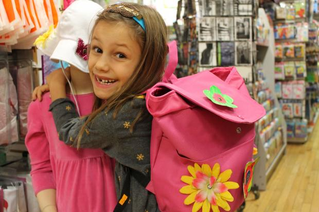 The 7-year-old has expanded to backpacks in addition to her headbands line.
