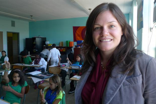 Linda Rosenbury is the first principal at the newly opened Brooklyn Urban Garden School.