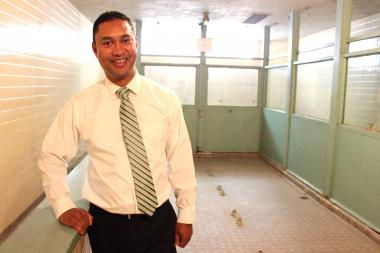 Principal of P.S. 64 Marlon Hosang found by accident the space that will become a dance studio.