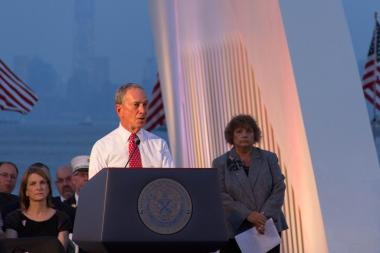 Michael Bloomberg spoke at a 9/11 memorial ceremony in Staten Island on Wednesday, Sept. 11, 2013.