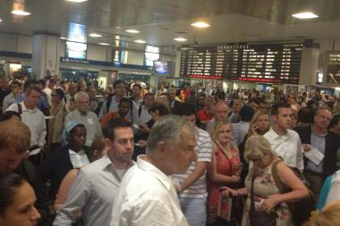 Damaged wires south of Philadelphia caused massive delays and commuter headaches at Penn Station on Wednesday Sept. 11, 2013.