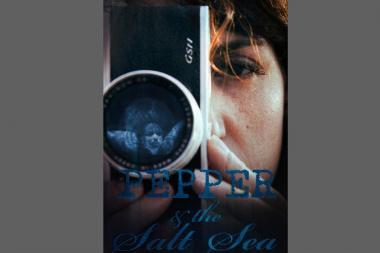 "The official film poster for ""Pepper & the Salt Sea."""
