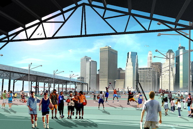Pier 2 will have a new roller rink, basketball courts, bocce courts, picinic tables and more.