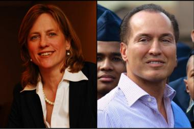 Melinda Katz and Peter Vallone, Jr. are the top Democrats in what was once a crowded field.