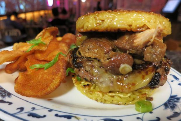 The famous ramen burger will be served for one month at Smith Street eatery Dassara.