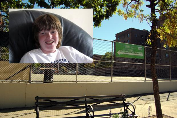 A plot of land that will become a community park was named Monday to honor Rory Staunton, who died of a rare disease.