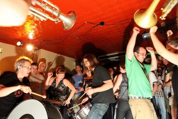 The Balkan brass band Slavic Soul Party has been playing almost every Tuesday night at Barbes in Park Slope.