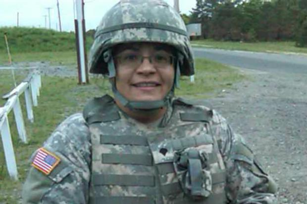 Spc. Ninfa Soto spent a month in active duty helping in the Hurricane Sandy recovery.