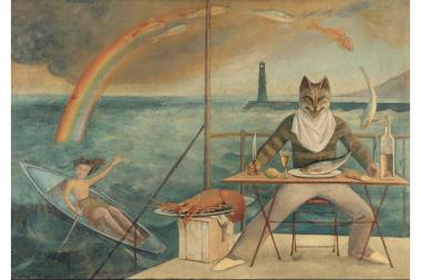 The French painter Balthus painted many tableaus of cats and young girls.
