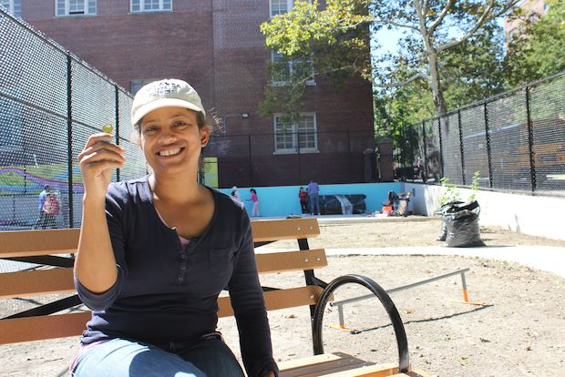 A new garden is being created in an unused space at P.S. 175 in Rego Park.