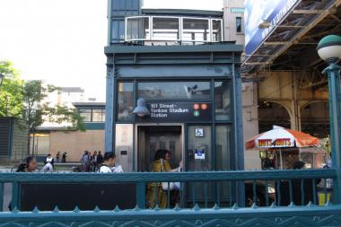 A person was struck and killed by a D train at the 161st Street-Yankee Stadium subway station in The Bronx on Oct. 10, 2013.
