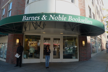 The Barnes & Noble on Seventh Avenue in Park Slope. Two men were arrested after trying to steal more than $1,000 in books recently, according to a police report.