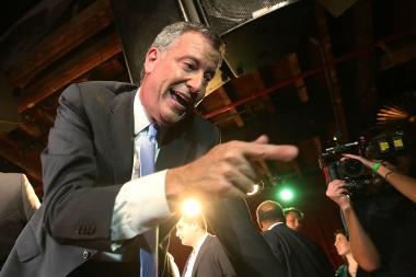 Democratic mayoral canddiate Bill de Blasio will address supporters at Inwood's St. Jude Friday at 7:00 p.m.