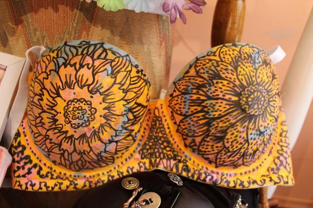 Inwood's Brazen Lingerie is auctioning off bras to raise money for the Breast Cancer Research Foundation.