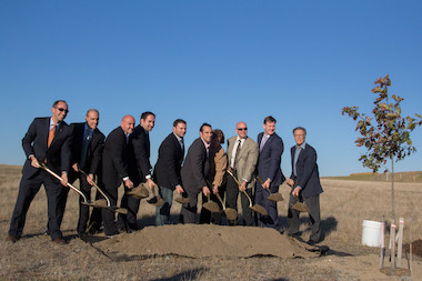 The city planted the first tree at the Brookfield Landfill to mark the end of the first phase of remediation at the site, which will open as a park in 2017.