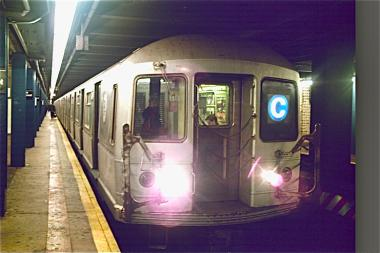 A man was struck by a C train in Penn Station, the MTA said.