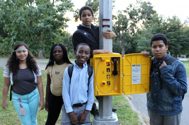 Students who live around Claremont Park convinced the city to install three emergency phones there.