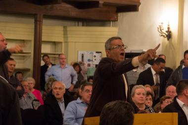 Residents at the meeting felt their voices of opposition to the plan weren't being heard.
