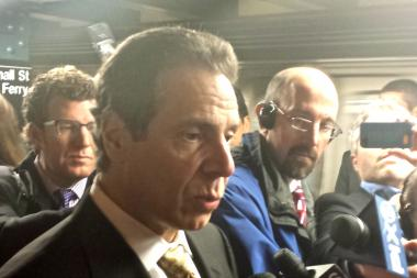 Gov. Andrew Cuomo committed funds to improve flood mitigation at LaGuardia Airport on Nov. 17, 2013.