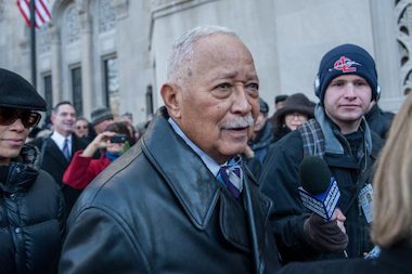 David Dinkins at Ed Koch's funeral in February 2013.