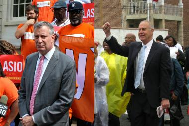 Bill de Blasio, left, and Dan Fein.