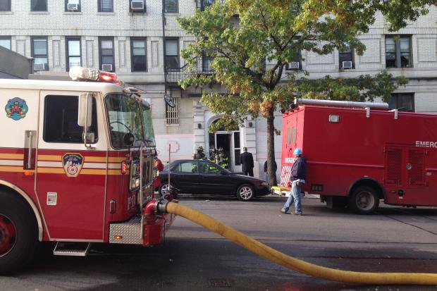 A fire broke out in the basement of a West 187th Street apartment building, FDNY says.