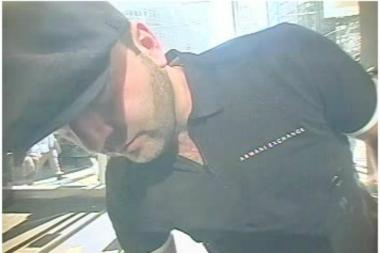 Police want to talk to this man after a duplicated bank card was used to make multiple withdrawals at banks in Manhattan and Brooklyn last month.