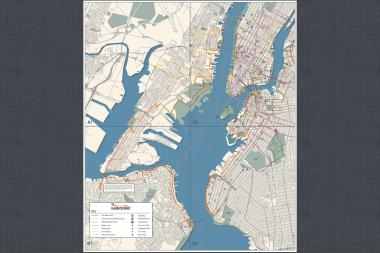 Harbor Ring have published the map of their 50-mile bicycle and pedestrian route around New York Harbor, and plan to print a hard copy of the map soon.