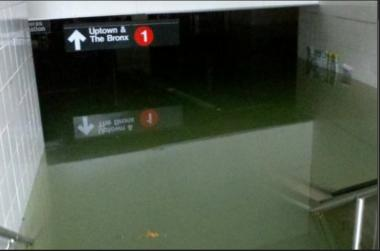 The South Ferry subway station was underwater Oct. 30, 2012 after Hurricane Sandy.
