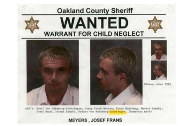 Josef Meyers, a former FBI informant, was arrested in 2010 for owing more than $220,000 in child support in Oakland County, Michigan.