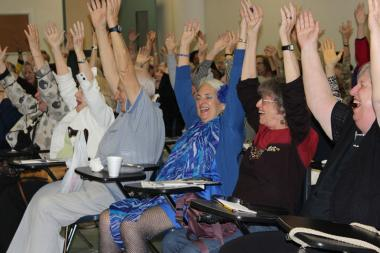 Laughter Yoga at JASA, a social services agency for seniors.