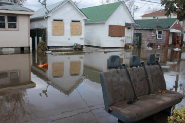 The streets of Midland Beach, Staten Island, were flooded days after Hurricane Sandy.
