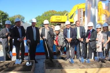 Officials celebrated a groundbreaking Monday on a $125 million expansion project at Mount Sinai Queens on Oct. 21, 2013.