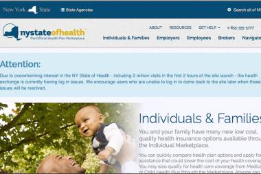 Almost as soon as the New York State of Health site went live Tuesday, it crashed.