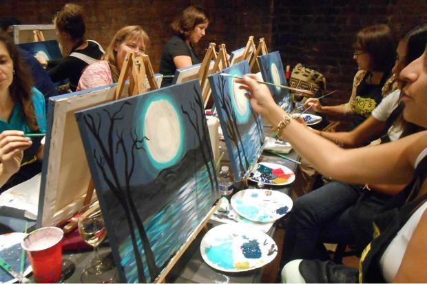 Pinot's Palette, a chain of stores that offers boozy painting lessons, will open their first location in New York on Staten Island next month.