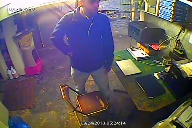 The suspect police believe to have broken into a diner on September 24, 2013.