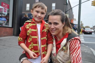 "Bianca Tonetti brought a costume for her son Damien Ross, 6, to change into as soon as he got out of school at P.S. 31. ""It would be nice if they could express themselves,"" she said of the anti-costume rule."