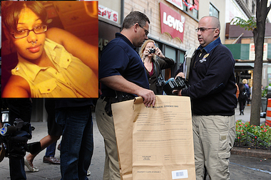 A fetus was found in a bag belonging to Tiana Rodriguez, who was suspected of shoplifting from Victoria's Secret in Herald Square, according to police sources.