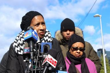 Avonte Oquendo's mother, Vanessa Fontaine, spoke at a press conference on Oct. 25, 2013.