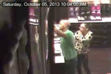Police are looking for these two people suspected in taking around $2,000 worth of underwear from a Staten Island Victoria's Secret.