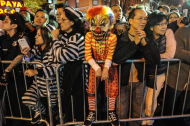 some of the onlookers along the parade route - Halloween Parade East Village