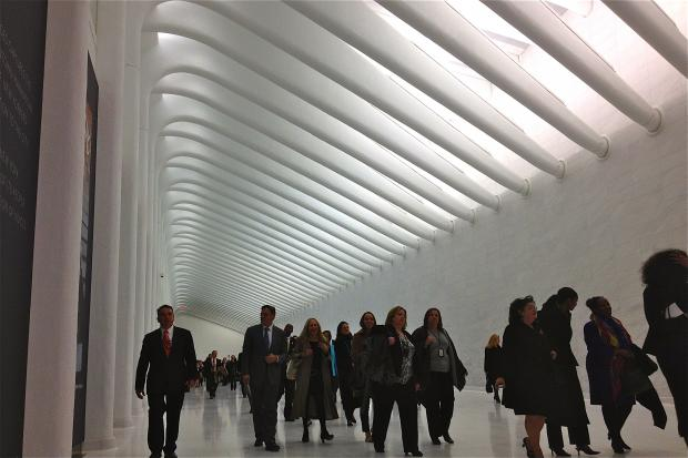 The impressive-looking passageway links the WTC PATH station with Brookfield Place.