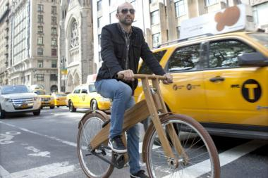 The company Bough Bikes makes only wooden bikes.