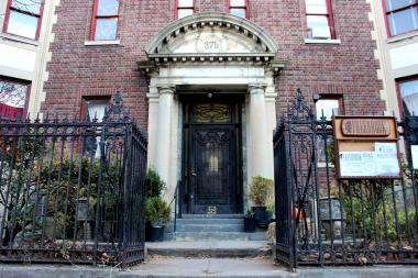 Businesses are moving back into the 375 Stuyvesant Ave. mansion after a fire in May.