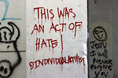 Fans scrawled messages of frustration at the site of 5Pointz, where the owner whitewashed over most of the graffiti art earlier this week.