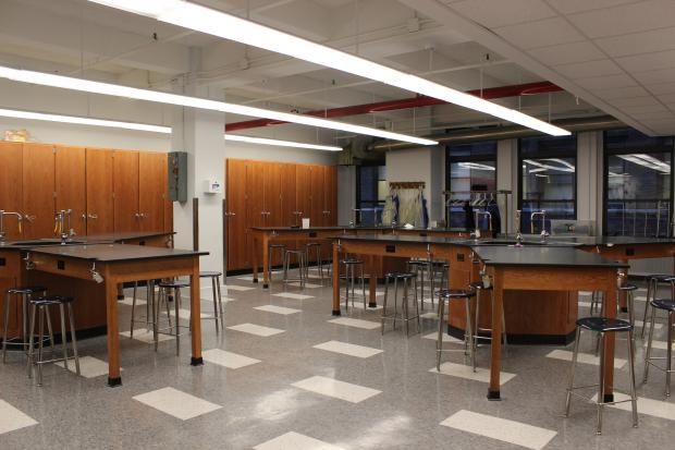 Baruch College Campus High School opens renovated science lab to students for the first time this week.