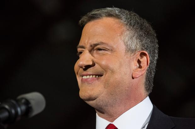 Bill de Blasio will be the first Democratic mayor since David Dinkins was elected in 1989.
