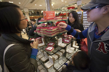 Shoppers hit Macy's for last year's Black Friday. Survive this year's Black Friday madness with DNAinfo New York's playlist.
