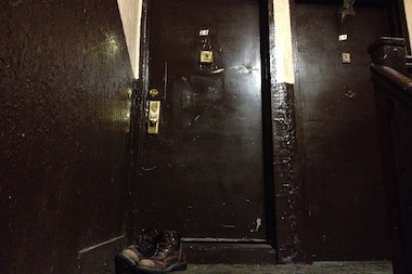 Meldish's boots were still lying outside his apartment door on 2nd Avenue in East Harlem. Meldish, a reputed gangster, was killed on Friday night by a single gunshot to the head, police said.